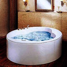Armitage Shanks large white island whirlpool bath