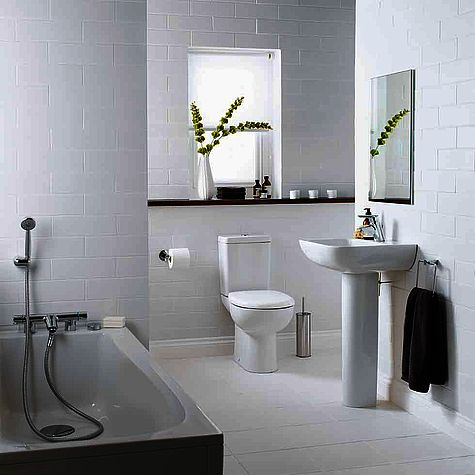 Armitage Shanks white residential bathroom