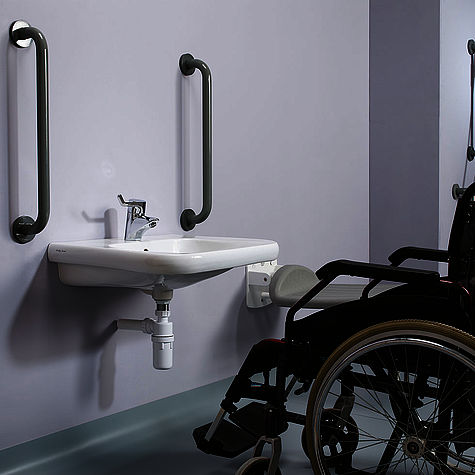 Armitage Shanks wheelchair accessible washbasin.