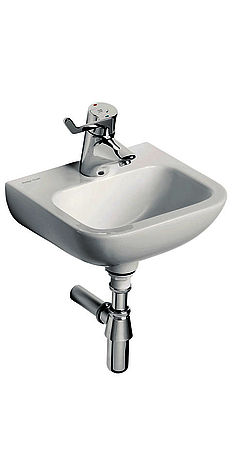 Armitage Shanks washbasin with thermostatic long lever mixer